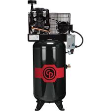 Chicago Pneumatic Reciprocating Air Compressor — 5 HP, 80 Gallon, 208