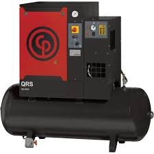 Chicago Pneumatic Quiet Rotary Screw Air Compressor with Dryer — 7.5 HP