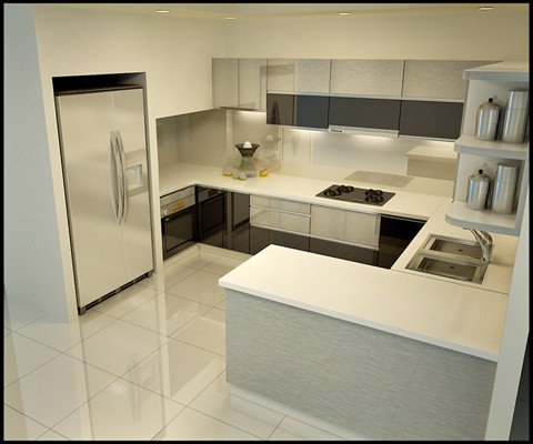 Tủ bếp cao cấp TBC003