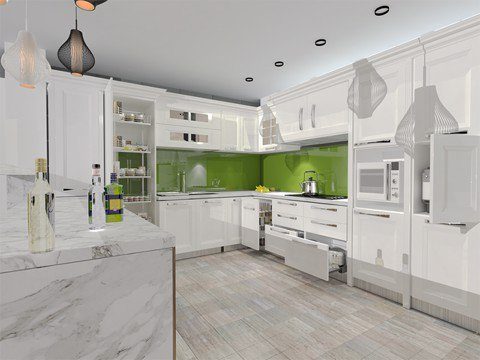 Tủ bếp cao cấp TBC002