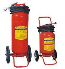 Bình bột chữa cháy BC có xe đẩy