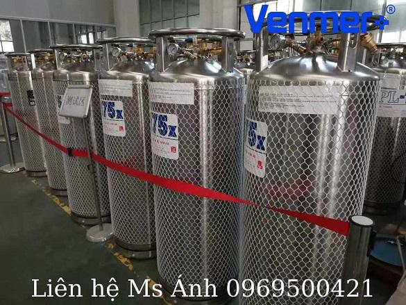khí Nito lỏng bằng bình XL45
