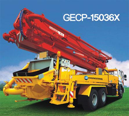 Xe bơm bê tông cần hiệu GE do Korea sản xuất