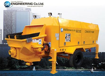 Bơm bê tông ngang hiệu GE do Korean sản xuất