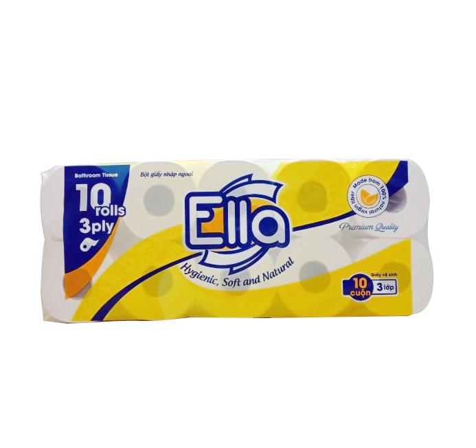 Giấy vệ sinh Ella 10 cuộn Vàng