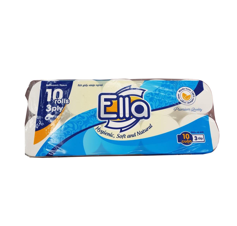 Giấy vệ sinh Ella 10 cuộn Xanh không lõi