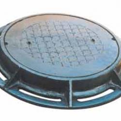 Nắp hố ga gang cầu khung âm tròn nắp tròn tải trọng 40
