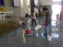 vệ sinh sàn đá