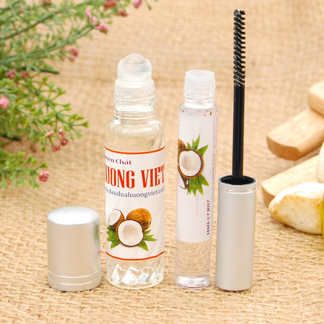Combo dầu dừa dưỡng mi & môi