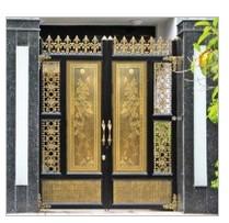 Cửa cổng hợp kim nhôm đúc ghép khung Inox G003