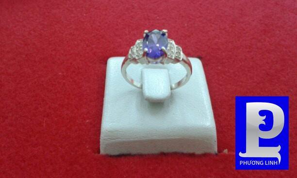 Nhẫn nữ mặt đá xanh