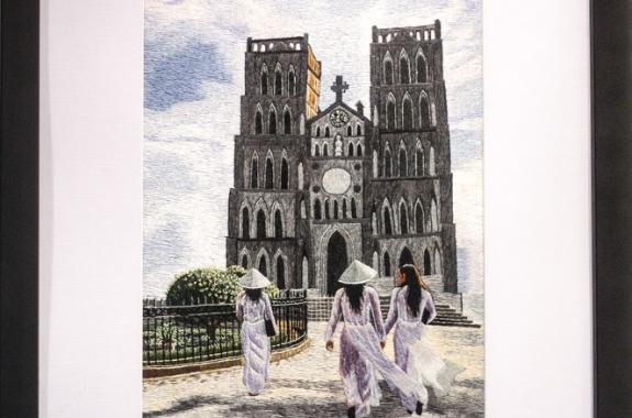Tranh thêu tay - Nhà thờ lớn
