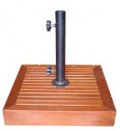 Đế dù gỗ vuông