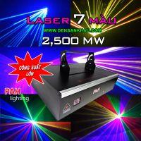 Đèn laser 7 màu RGB