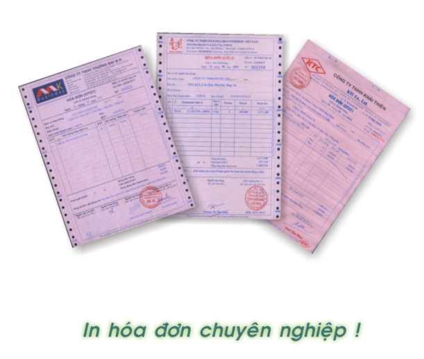 Dịch vụ đặt in hóa đơn