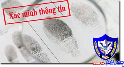 Dịch vụ điều tra xác minh nhân thân