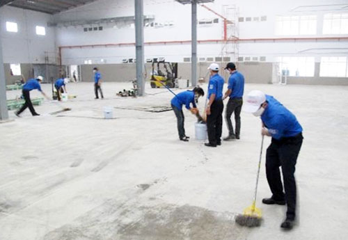 Dịch vụ làm sạch sau xây dựng