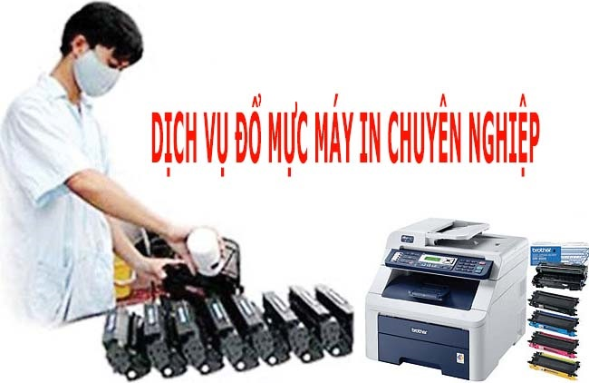 Đổ mực sửa chữa máy in
