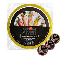 Bánh tráng MeKong River 3 màu