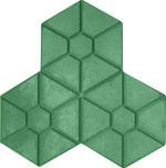 Gạch 3 lá lục giác xanh