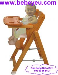 Ghế ăn bột bằng gỗ