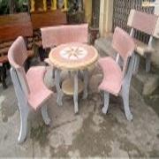 Ghế đá Granito ghế giả gỗ