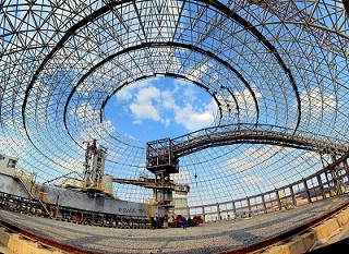 Gia công kết cấu dàn mái không gian
