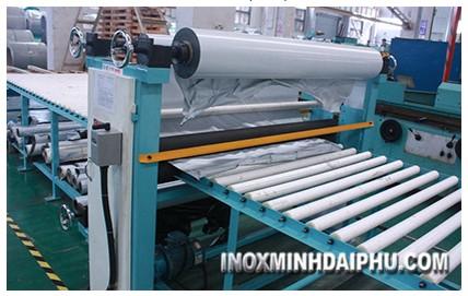 Gia công phủ Keo PVC bề mặt Inox