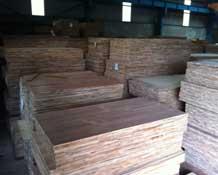 Gỗ ghép veneer được bảo quản tại kho