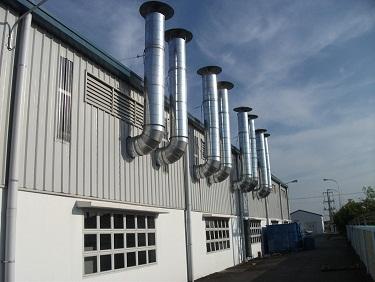Hệ thống ống thải khí buồng phun sơn