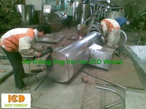 Hệ thống ống thu rác nhà cao tầng bằng inox