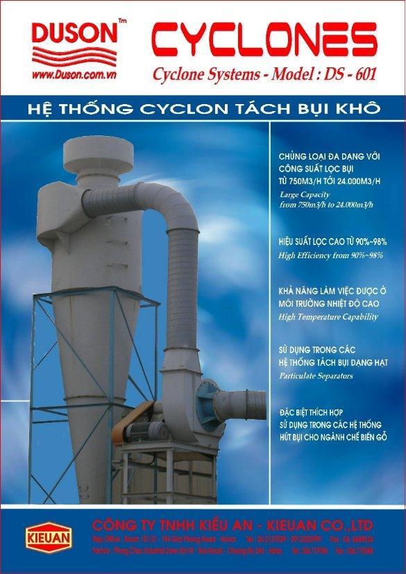 Hệ thống tách bụi khô Cyclon