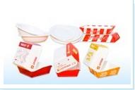 Hộp Hamburger, khay thực phẩm và tô giấy