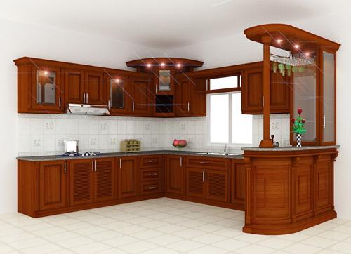 Kệ tủ bếp gỗ