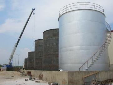 Lắp đặt silo, bồn dầu