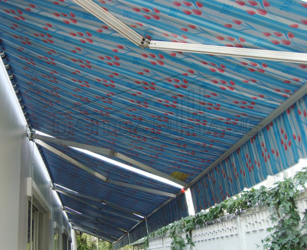 Mái hiên di động nhà mặt đường