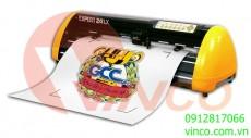 Máy cắt chữ và bế tem decal.