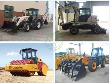 Máy công trình phục vụ đầm nén, bãi rác và thi công cơ giới