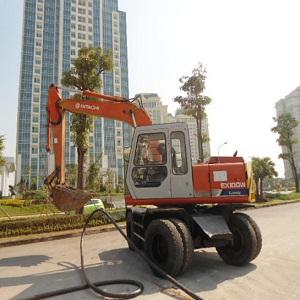 Máy đào bánh lốp Hitachi