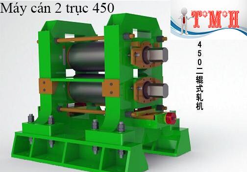 Máy cán nóng 2 trục 450