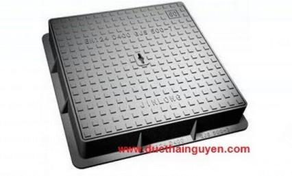 Nắp hố ga khung vuông, nắp vuông gang cầu GNB (750×750)