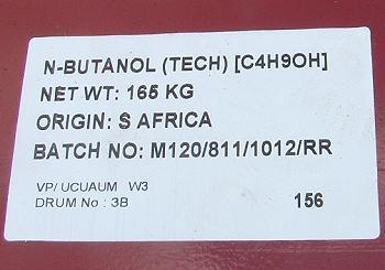 NButanol tech (C4H9OH)