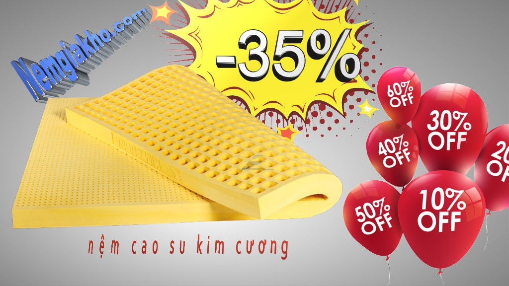 Nệm Cao Su Kim Cương giá rẻ