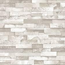 Giấy dán tường giả đá trắng đục