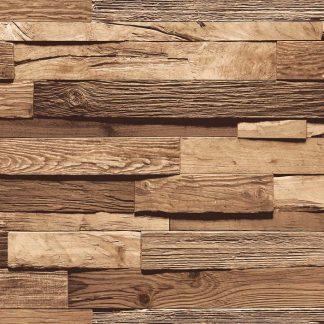 Giấy dán tường giả vân gỗ 3D