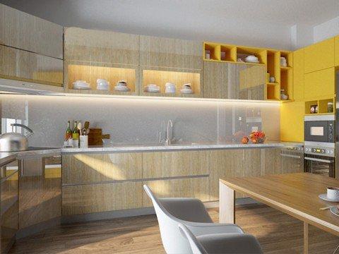 Tủ bếp Laminate HT-01