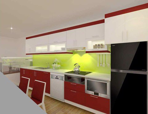 Tủ bếp Acrylic HT-05