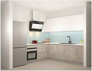 Tủ bếp Acrylic bóng gương-TBA.03