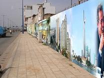 Quảng cáo tường rào công trình