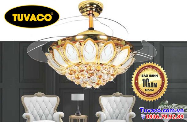 Quạt trần đèn chùm trang trí tuvaco c600k1-32